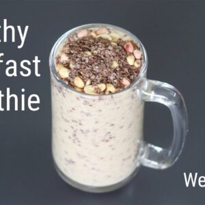 High Protein Banana Smoothie - Ragi Recipes For Weight Loss - Finger Millet | Skinny Recipes