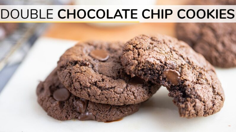 DOUBLE CHOCOLATE CHIP COOKIES   gluten-free cookie recipe