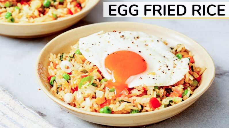 EASY EGG FRIED RICE   Healthy Recipe with Happy Egg