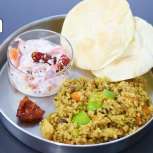 Brown Rice Pulao Recipe For Weight Loss - Brown Rice Benefits - Veg Pulao In Pressure Cooker