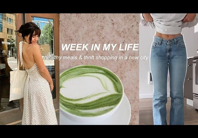 WEEK IN MY LIFE   Healthy Meals while Traveling, Thrift Shopping Finds, & more!
