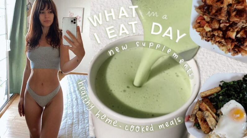 What I Eat in a Day   Home cooked healthy meals, Matcha recipe, & New supplements