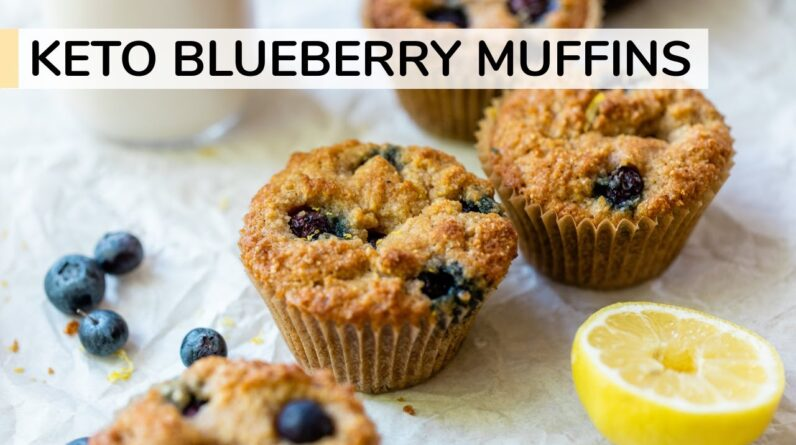 KETO BLUEBERRY MUFFINS   easy, healthy muffin recipe