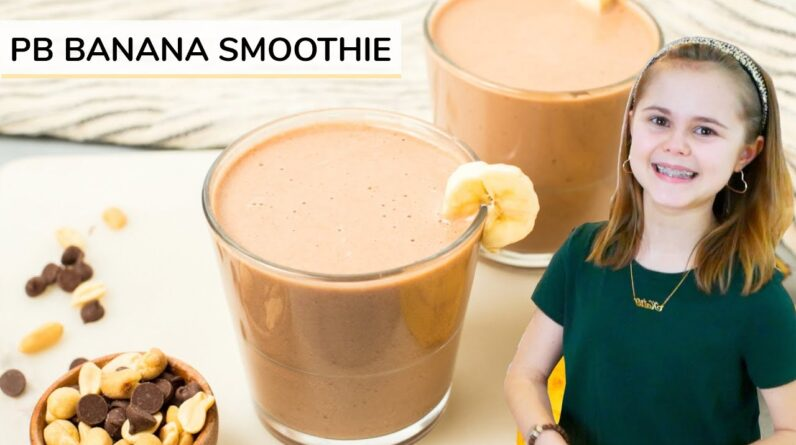 PEANUT BUTTER BANANA SMOOTHIE   just 4-ingredients