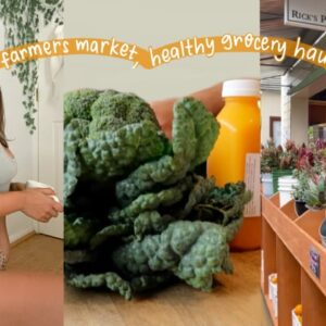 VLOG: farmers market grocery haul, moving?🙊, & starting classes!!
